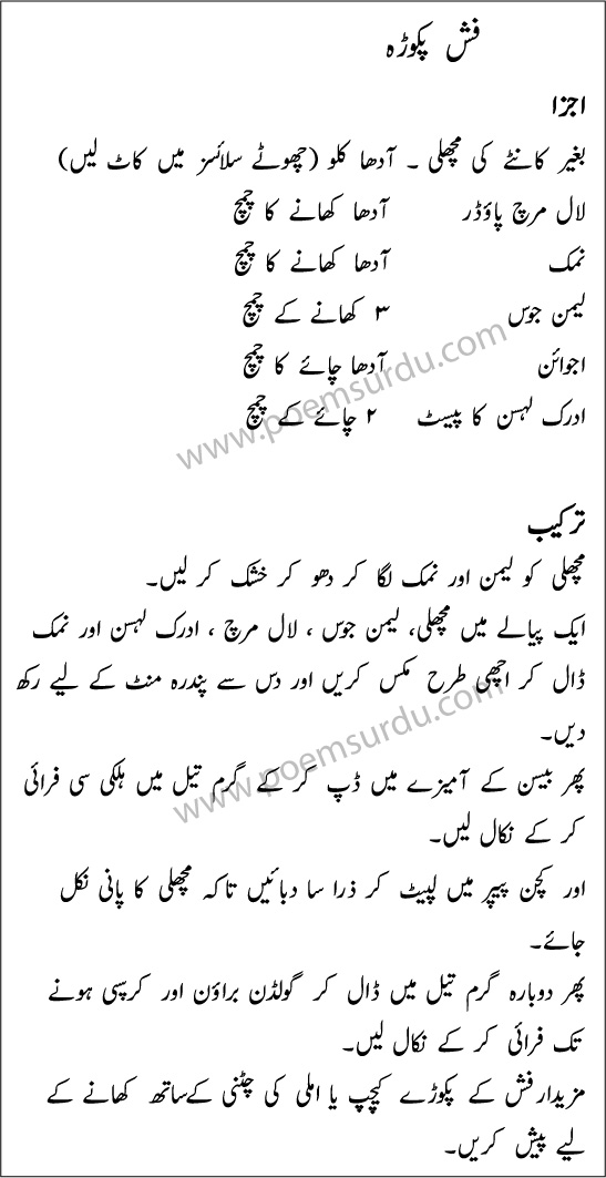 Fish Pakora Recipe in Urdu